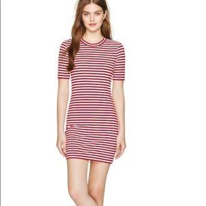 Aritzia Sunday Best striped T-shirt dress